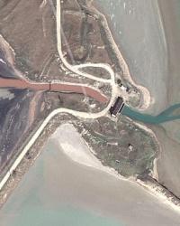 Насосная станция, Кугаранская дамба через Гнилое море