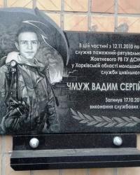 Пам'ятна дошка Чмужу В.С., м. Харків