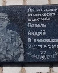 Пам'ятна дошка Попелю А.В., м. Харків