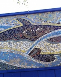 "Мозаїчне пано на басейні ""Дельфін"", м. Полтава"