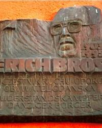 Памятная доска Эриху Бросту, г. Гданьск