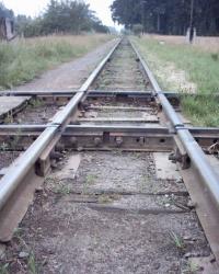 Перетин широкої та вузької залізничної колій у Антонівці.