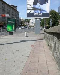 Марка кадастру А1714 біля стадіону Динамо
