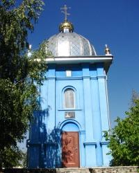 Капличка на місці Покровської церкви в м. Городище