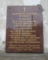 Меморіальна дошка мученикам ХХ сторіччя, м. Прага