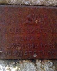 Геодезичний знак в лісі між селами Мриги і Конча Заспа