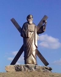 Скульптура Андрія Первозванного в с. Іванковичі