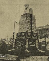 Площадь им. М. Горького; Первый памятник Ленину в г.  Днепропетровск