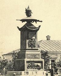 Памятник на месте отдыха Петра I после Полтавской битвы