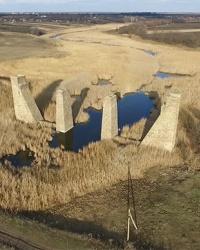 Мост через с.Тарасо-Шевченковка. «Вторая Екатерининская ж.д.». Дорога «фантом»