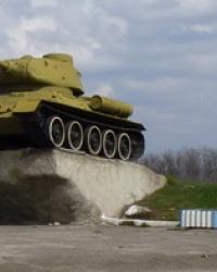 Танк Т-34 на постаменте в Вольнянске