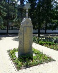 Памятник рабочим завода им.Шевченко павшим в боях за Родину 1941-1945 гг. в Волнянске