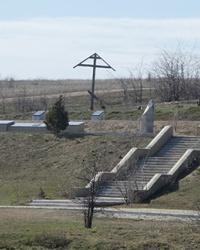 Братская могила на берегу реки Молочной в с. Мордвиновка