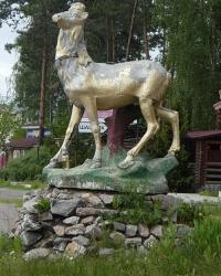 Скульптура «Олень» в с. Климентово