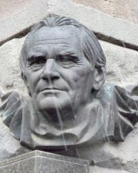 Мемориальная доска со скульптурным портретом Бориса Чичибабина в Харькове