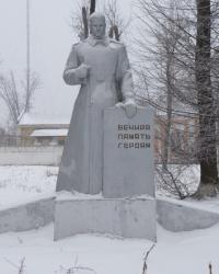 Отдельные могилы советских воинов у железнодорожного вокзала в г.Верховцево