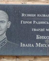 Мемориальная доска Герою Советского Союза Быкову И.М. в г.Кривой Рог