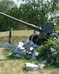 Памятник артиллерийская пушка в г.Васильевка