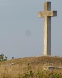 Пам'ятний хрест Голодомору (Курган скорботи) у смт.Велика Багачка