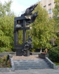 Памятник ликвидаторам Чернобыльской трагедии в г.Полтава