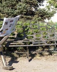 """Скульптура """"Читатель"""" (втормет) в г. Днепропетровск"""