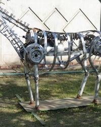 """Скульптура """"Автолошадь"""" (втормет) в г. Днепропетровск"""