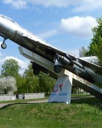 Памятник самолет Су-7Б в с. Богдановка