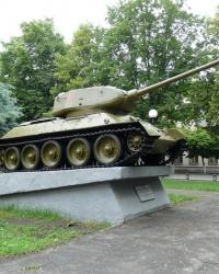 Танк Т-34 в г.Лозовая