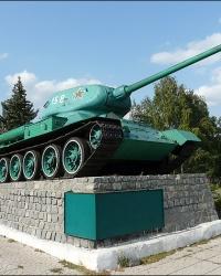 Танк Т-34 - памятник воинам-освободителям в г. Святогорск