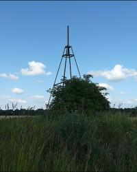 Триангуляция в поле между селами Мелюшки и Петровцы
