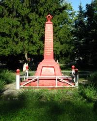 Братская могила погибших в годы гражданской войны в г. Изюм