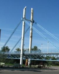 Пешеходный мост в г. Изюм