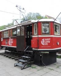 Старенький трамвай в г. Львов
