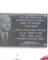 Мемориальная доска в честь Фодора С.С. в г. Ужгород