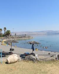 Пляж возле древнего Капернаума