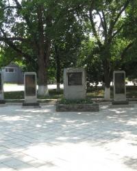 Памятник погибшим ликвидаторам аварии на ЧАЭС в Мангуше