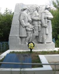 Братские могилы воинов возле улицы Трамвайная в Стаханове