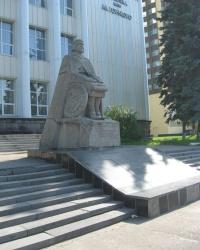 """Памятник автору поэмы """"Слово о полку Игореве"""" в Луганске"""