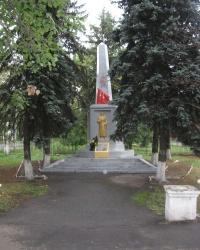 Братская могила в районе ж/д вокзала в Славянске