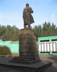 Памятник Ленину возле проходной ЕМЗ, г. Енакиево