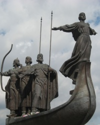 """Монумент """"Парящая Лыбедь"""" в Киеве"""