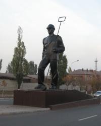Памятник сталевару в Енакиево