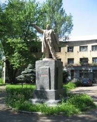 Памятник В.И.Ленину возле Кировского исполкома в Донецке