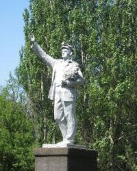 Памятник шахтеру на поселке Абакумова в Донецке