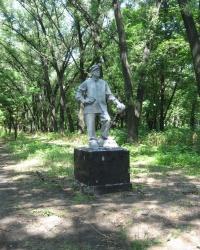 Памятник шахтеру в парке шахты Абакумова