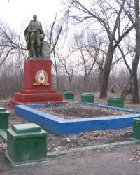 Братская могила в парке шахты им.Абакумова в Донецке