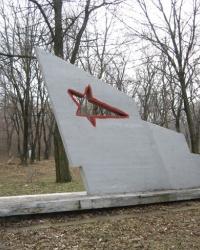 Братская могила советских воинов на кладбище поселка Рудуч в Горловке