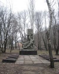Памятник воинам-освободителям и шахтерам, погибшим в годы ВОВ, на поселке Пастуховка в Макеевке