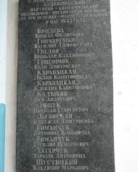 Памятная доска членам Буденновской подпольной организации в Донецке