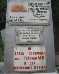 Братская могила в Широкино